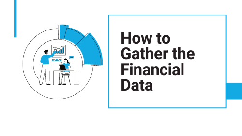 business people gathering financial data to prepare a P&L statement